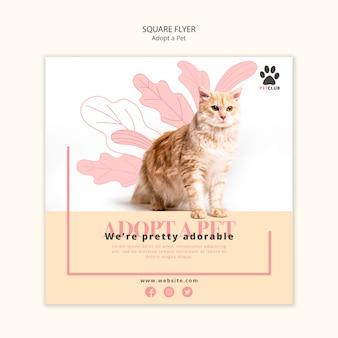 Adoptez la conception de modèle de flyer pour animaux de compagnie