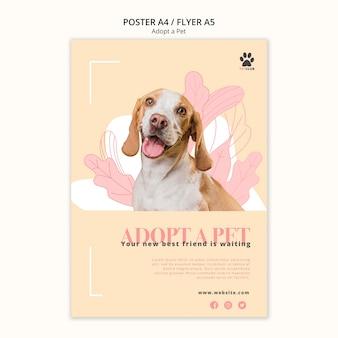 Adoptez le modèle d'affiche pour animaux de compagnie