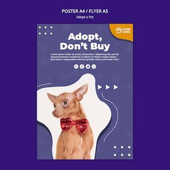 Adoptez un modèle d'affiche pour animaux de compagnie