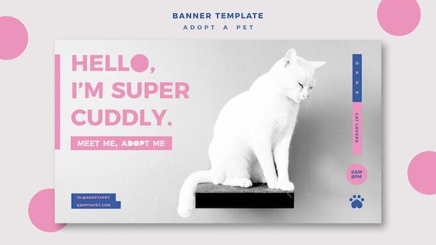 Adoptez un modèle de bannière de concept pour animaux de compagnie