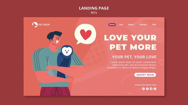 Adoptez la page de destination des animaux de compagnie
