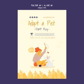 Adoptez un style d'affiche pour animaux de compagnie