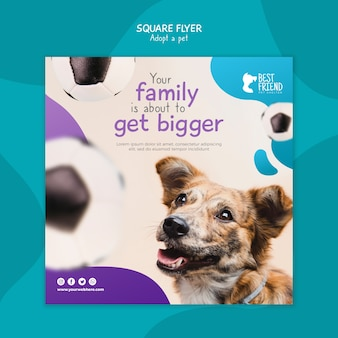 Adoptez votre flyer carré meilleur ami
