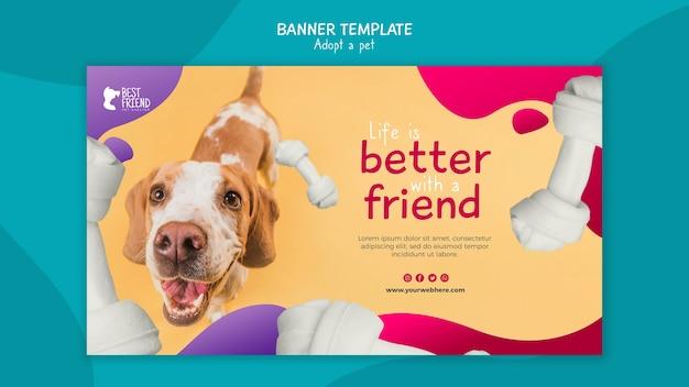 Adoptez votre modèle de bannière meilleur ami