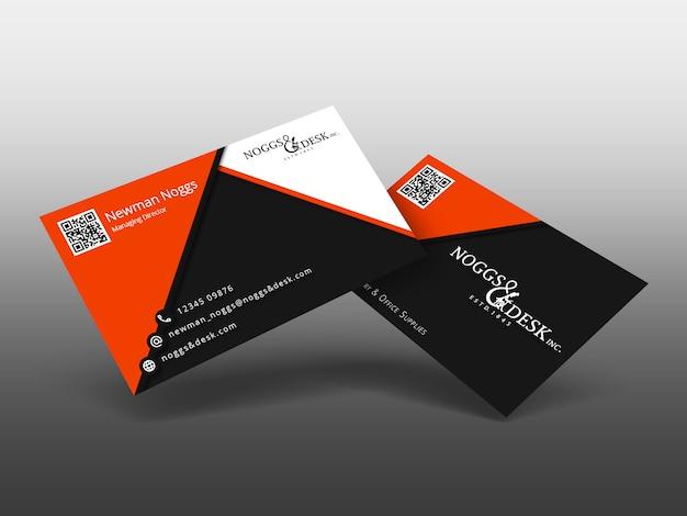 Affichage abstrait de cartes de visite / cadeaux