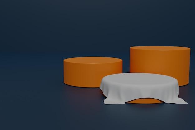 Affichage du produit du podium de rendu 3d