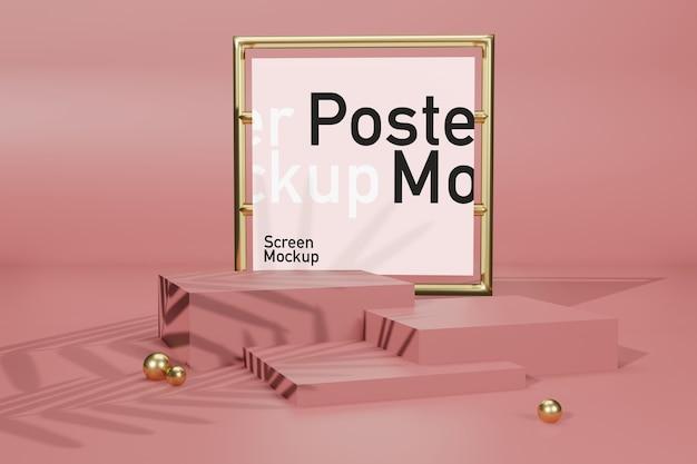 Affichage de maquette de scène avec maquette d'affiche