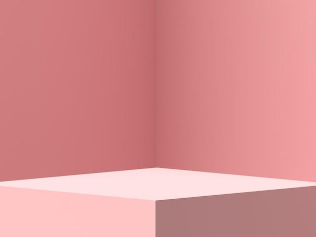 Affichage de podium de forme géométrique de scène 3d