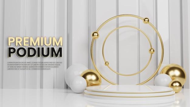 Affichage des produits clean luxury premium gold podium