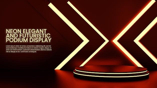Affichage de produits de podium futuriste neon