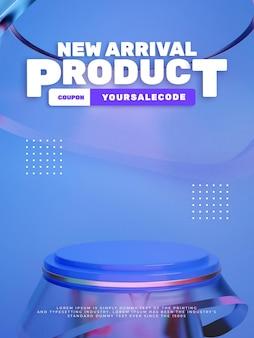 Affichage de produits de podium en verre propre 3d
