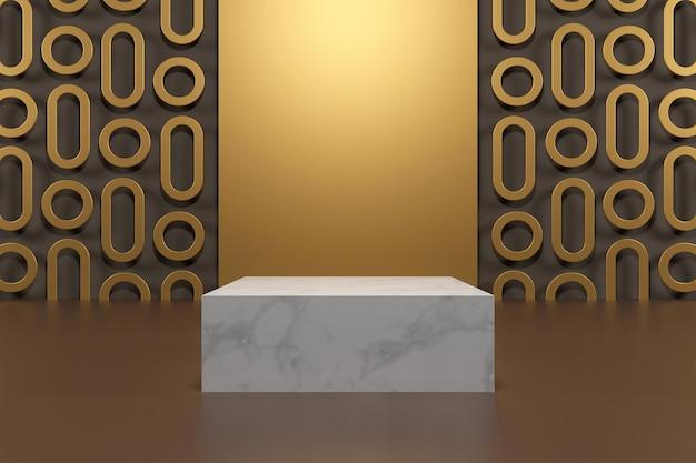 Affichage de rendu abstrait podium