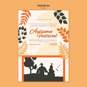 Affiche a4 de la fête d'automne