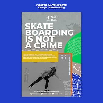 Affiche a4 de style de vie de skateboard