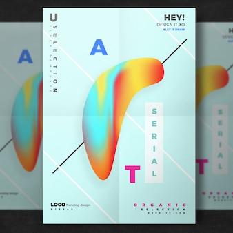 Affiche abstraite créative