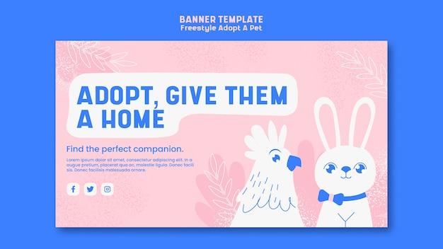 Affiche avec adopter le style animal de compagnie