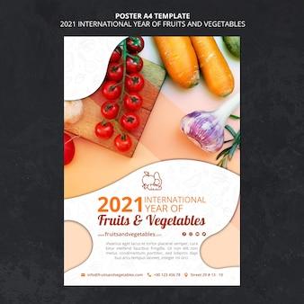 Affiche de l'année internationale des fruits et légumes