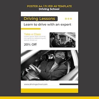 Affiche apprendre à conduire a4