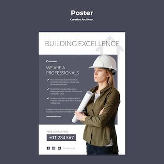 Affiche d'architecte créatif