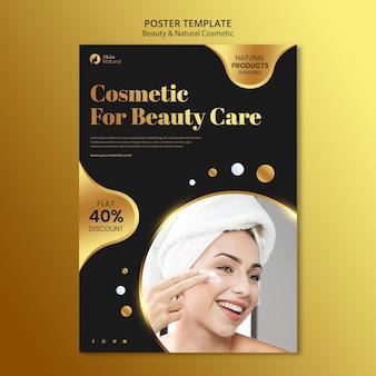 Affiche de beauté et de cosmétiques naturels