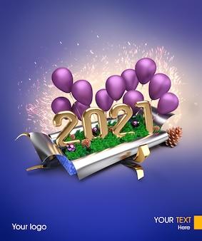 Affiche de bonne année 2021