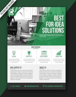 Affiche de la brochure flyer moderne verte - format a3