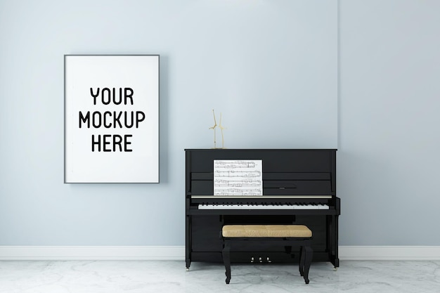 Affiche de cadre avec intérieur de la pièce