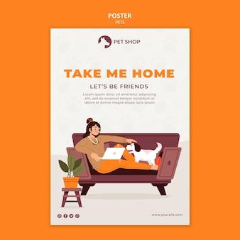 Affiche de concept d'adoption