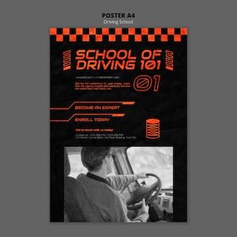 Affiche de concept de conduite