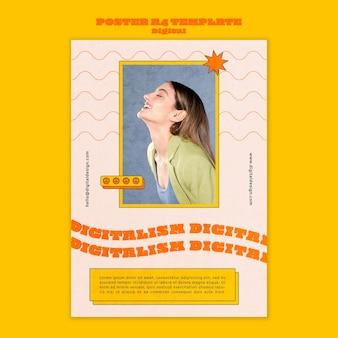 Affiche De Concept Numérique A4 Psd gratuit