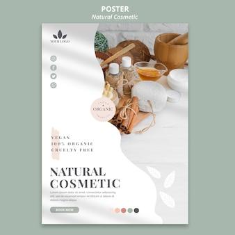 Affiche de cosmétiques naturels
