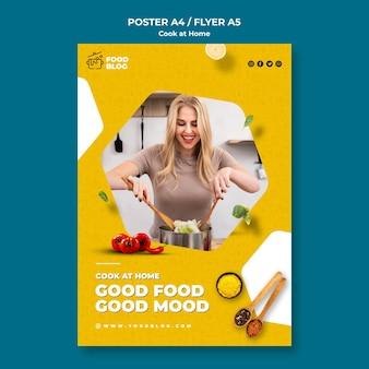 Affiche de cuisinier à la maison