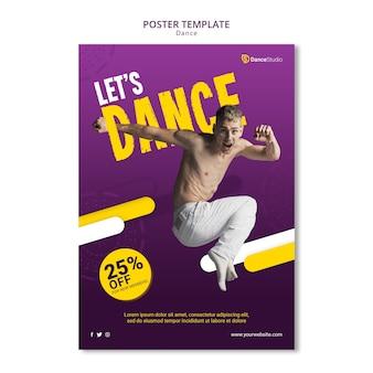 Affiche de danse avec réduction
