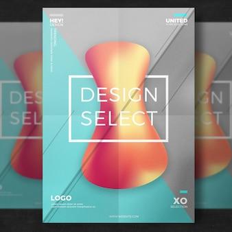 Affiche design créatif