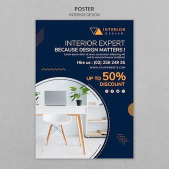 Affiche de design d'intérieur avec photo