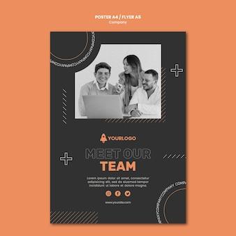 Affiche de développement des affaires de l'entreprise