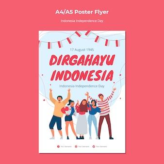 Affiche du jour de l'indépendance de l'indonésie