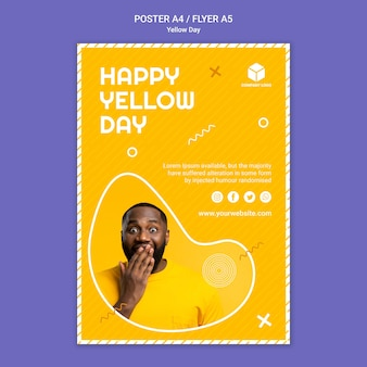 Affiche du jour jaune