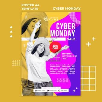 Affiche du modèle cyber monday