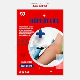 Affiche du registre des dons de sang