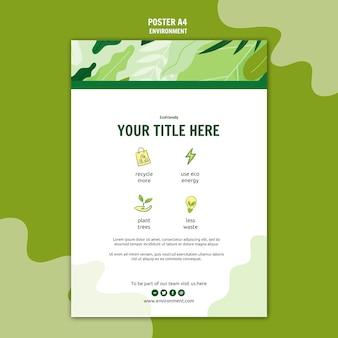 Affiche écologique verte