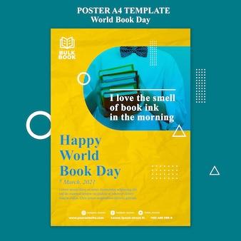 Affiche de l'événement de la journée mondiale du livre
