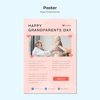 Affiche de la fête des grands-parents heureux