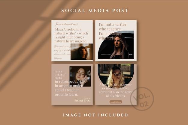 Affiche de flux de médias sociaux flyer square instagram