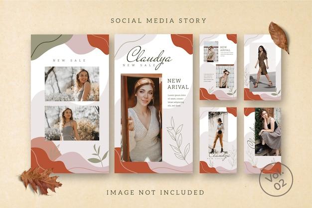 Affiche d'histoire de flux de médias sociaux flyer square instagram