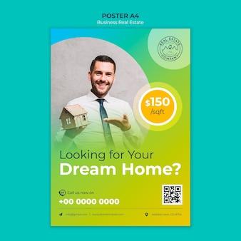 Affiche immobilière avec photo