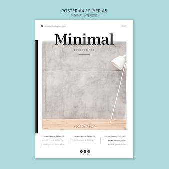 Affiche des intérieurs minimaux