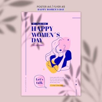 Affiche de la journée de la femme heureuse