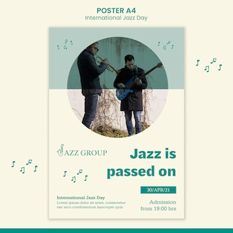 Affiche de la journée internationale du jazz