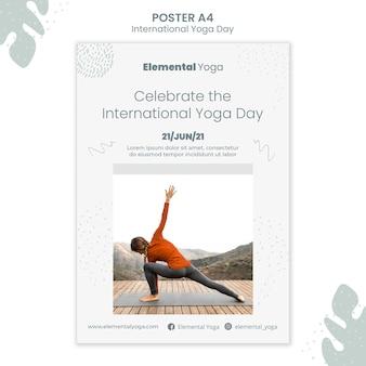 Affiche de la journée internationale du yoga